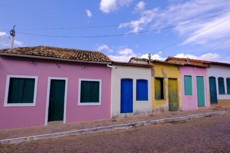 Colorful houses in the historical city of Lencois, Chapada Diamantina, Bahia, Brazil, South America Stock fotó