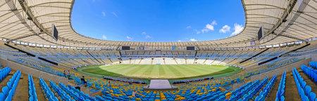 RIO DE JANEIRO, RIO, BRAZIL, SEPT 05, 2018: View of the Maracana stadium, Rio de Janeiro, Brazil, South America in Rio De Janeiro, Brazil on SEPT 05, 2018