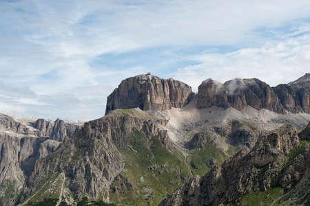 sella: Sass Pordoi from Belvedere - Sella Group - Dolomites - Trentino - Italy