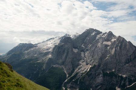 panoramas: Marmolada from Belvedere - Dolomites - Trentino - Italy Stock Photo