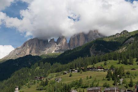 panoramas: Sasso Lungo and Sasso Piatto - Dolomites - Trentino - Italy Stock Photo