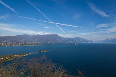panoramas: The Garda lake from Rocca of Manerba - Garda lake - Italy