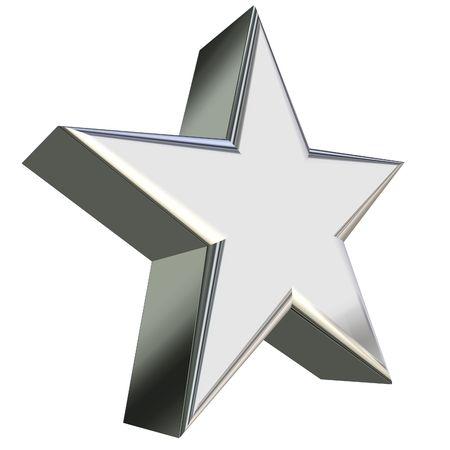 Silver star 3D rendering Stock Photo - 2427345