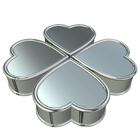 4 hearts forming 4 leaves clover Stock Photo - 2447696