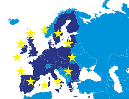 European union members on Europe map