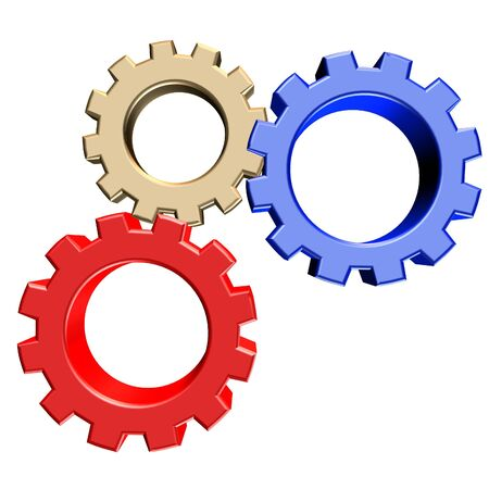 3D rendering of gears Stock Photo - 2515465