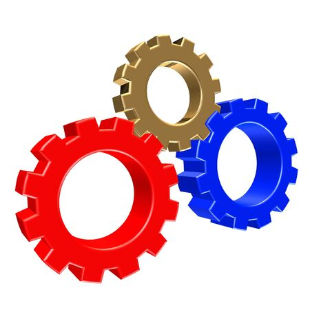 3D rendering of gears Stock Photo - 2515464