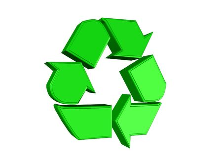 returned: 3D recycling sign Stock Photo
