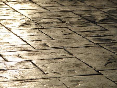 tiles floor: Concrete tiles floor  Stock Photo
