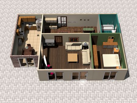 floor plan: 3D house plan