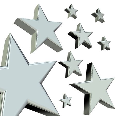 Silver stars Stock Photo - 2515502