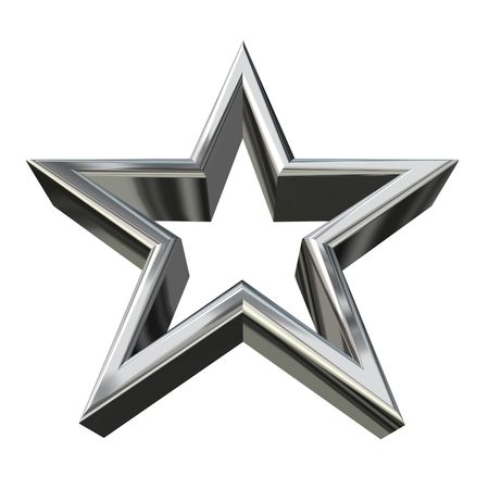 3D rendering of golden star down view Stock Photo - 2982832