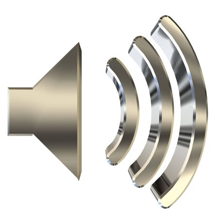 loud speaker: Speaker symbol 3D rendering on white background Stock Photo