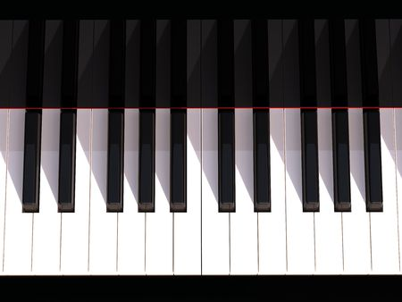 teclado de piano: 3D teclado de piano en negro