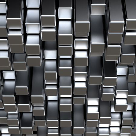 3d abstract silver metal bars Stock Photo - 5825009