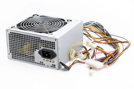 Used ATX Computer Power Supply On White Background Stock Photo ...