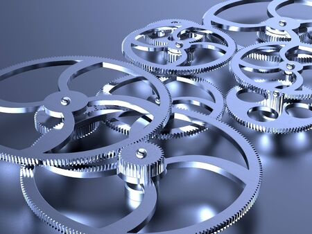 3D rendering of old steel gears background Stock Photo - 6421695