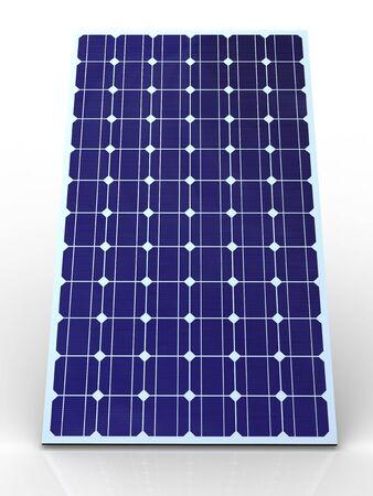 Blue solar panel on white background photo