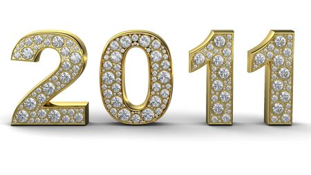 scintillate: Procesamiento de oro 2011 con diamantes blancos 3D