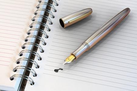 pad pen: Metal pluma estilogr�fica en port�til con gota de tinta