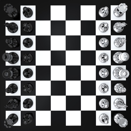 Black and white chess board top view photo