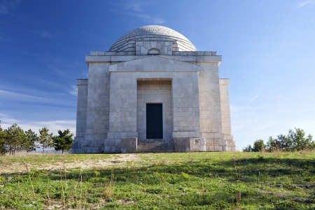 sculptor: Famous sculptor Ivan Mestrovic mausoleum in Otavice Croatia Stock Photo