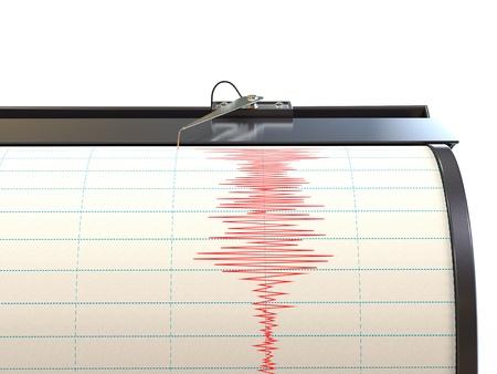 землетрясение: Сейсмограф инструмент записи колебаний грунта во время землетрясения