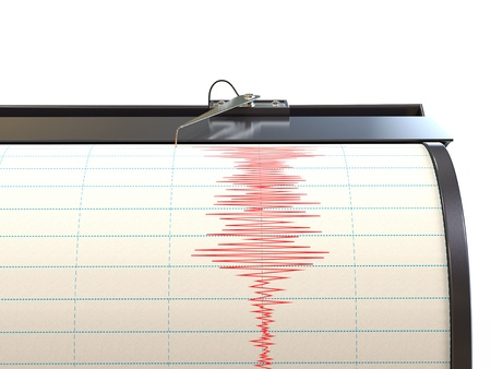Seismograph instrument recording ground motion during earthquake Stock Photo - 17930556