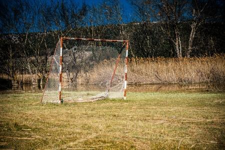 goalpost: Neglected football playground and goalpost