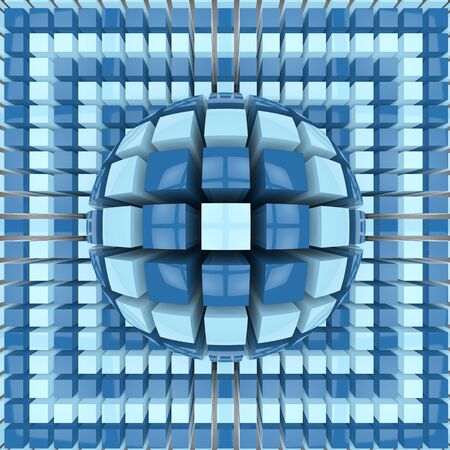 op: Op art two colors sphere pattern