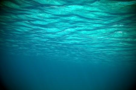 Vue sur l'océan sous la surface Banque d'images