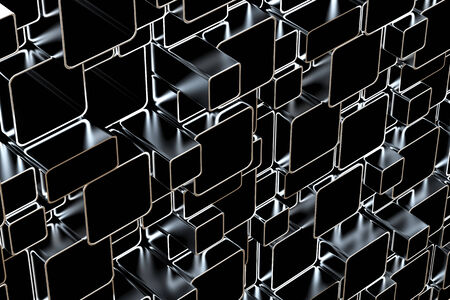 3d abstract silver metal tubes photo