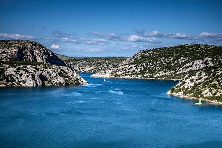 estuary: River Krka estuary, Croatia Adriatic Sea