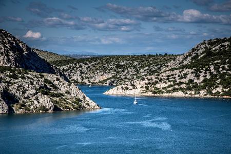 dalmatia: River Krka estuary, Croatia Adriatic Sea
