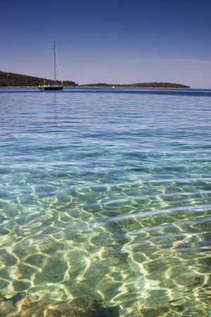 croatia: Sailing Boat in beautiful crystal clear sea