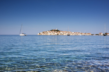 croatia: Primosten, famous touristic destination in Croatia. Town on small peninsula.