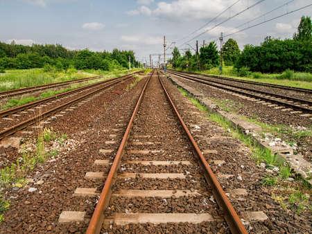 Railway is straight going far away