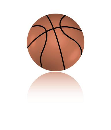 Basketball and it's reflection Vector