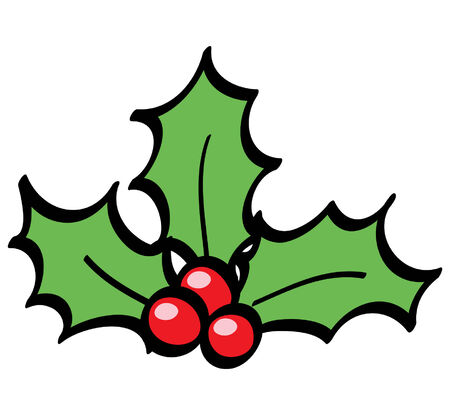 holly berry: Holly Berries Illustration