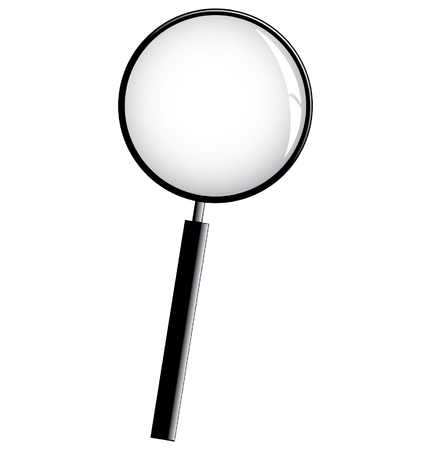 black magnifier Vector