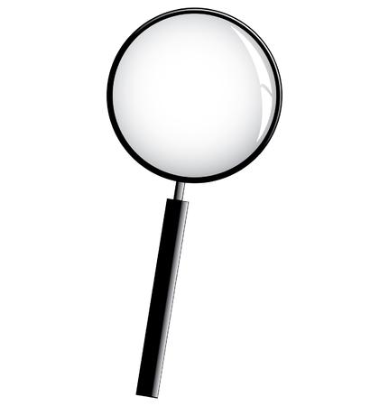 black magnifier Stock Vector - 2314349