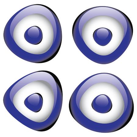 Turkish lucky charm evil eye bead Vector