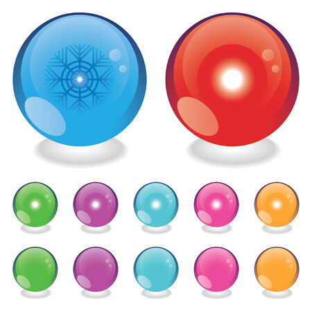 winter and summer glass light balls Stock Vector - 2314397