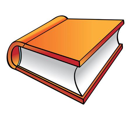 Orange Book cartoon Stock Vector - 2511916