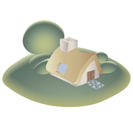 a cottage on the hill Stock Vector - 2511920