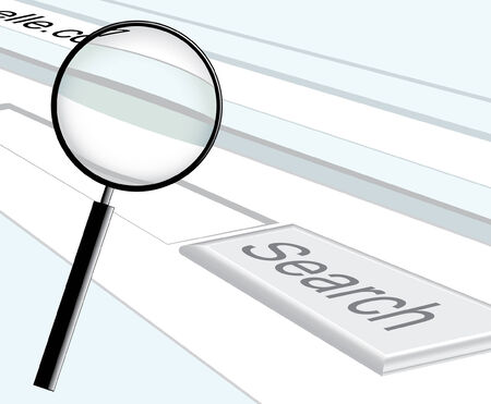 web search and magnifier Vector