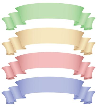 a set of banners in different colours Vector