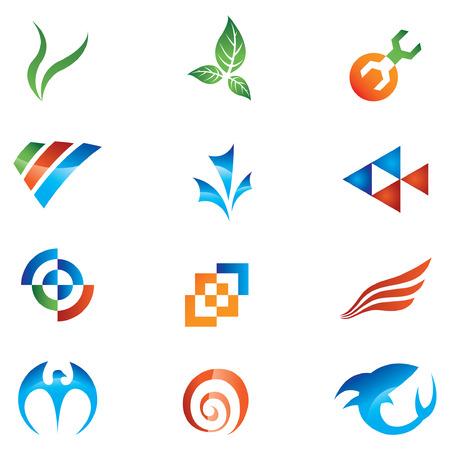logos empresas: Logos a ir con el nombre de su empresa  Vectores