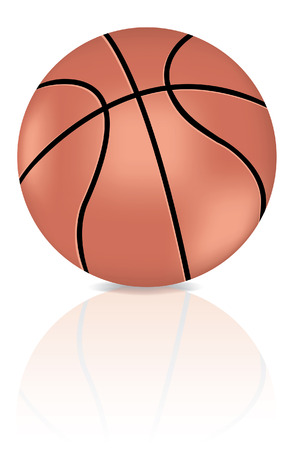 a basketball and it�s reflection Vector