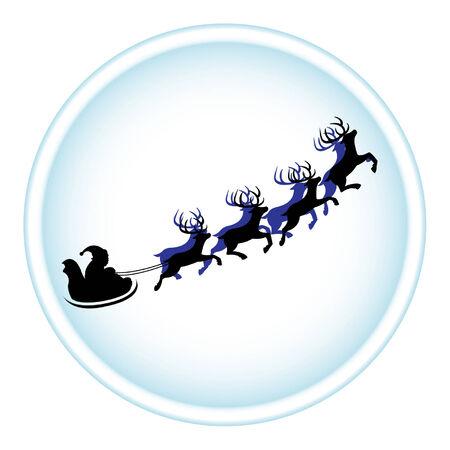 Santa Claus and reindeers Vector